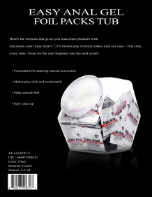 A&E EASY ANAL FOIL PACK, 2.5ML - BOWL