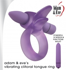 ADAM'S & EVE'S VIBRATING CLITORAL TONGUE RING