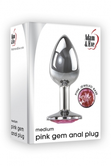 PINK GEM ANAL PLUG MEDIUM